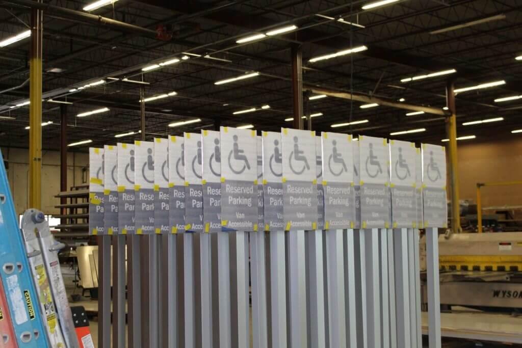 Airport Wayfinding Sign 5 - Fabrication