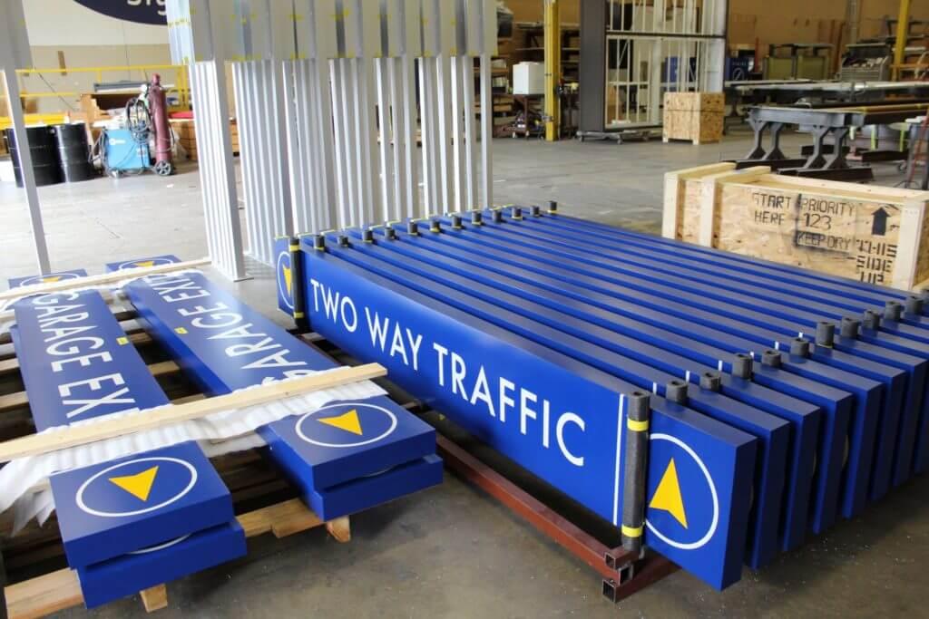 Airport Wayfinding Sign 4 - Fabrication