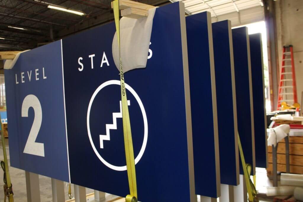 Airport Wayfinding Sign 2 - Fabrication
