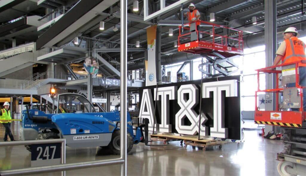 AT&T Stadium Sign Fab