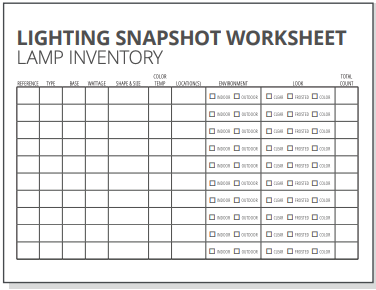 Lamp Inventory worksheet small