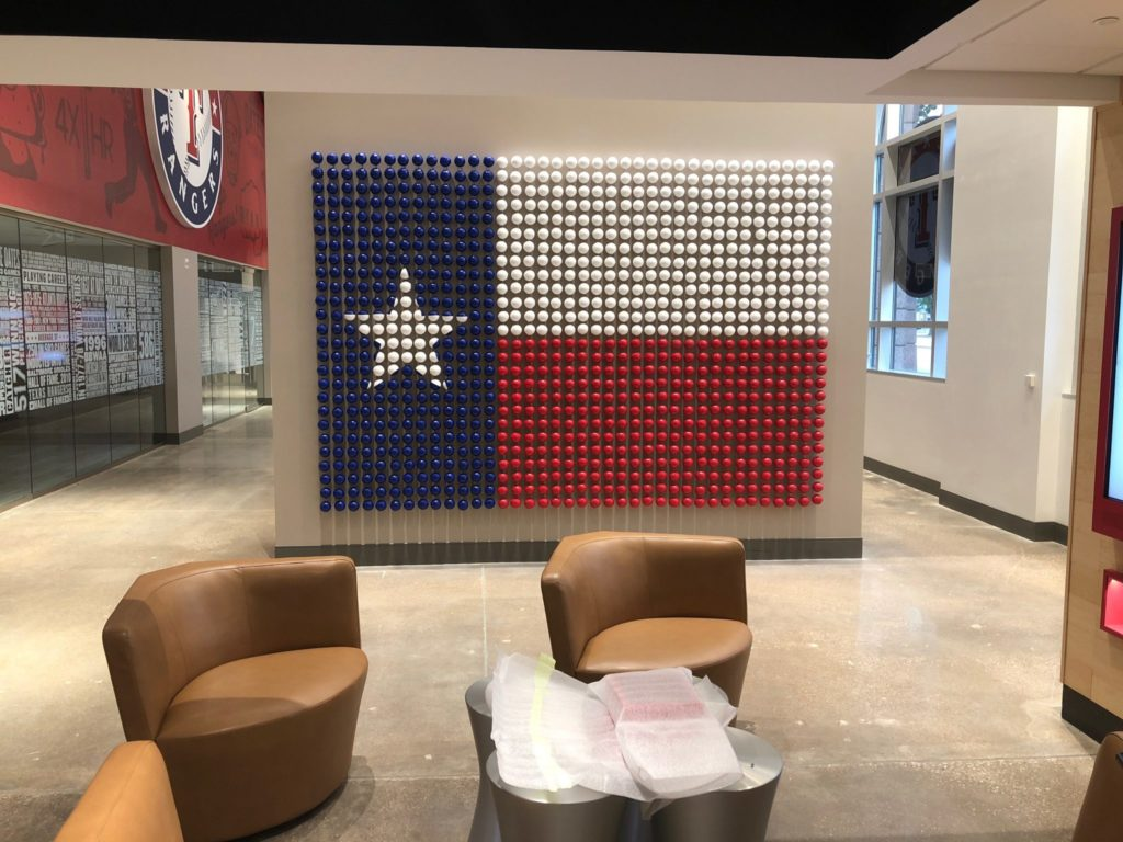 Texas Rangers Ball Wall - Sign