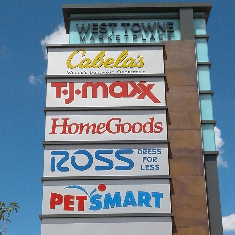 Shopping Mall Signs