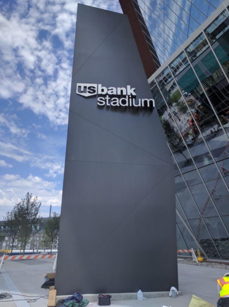 US Bank Stadium Sign