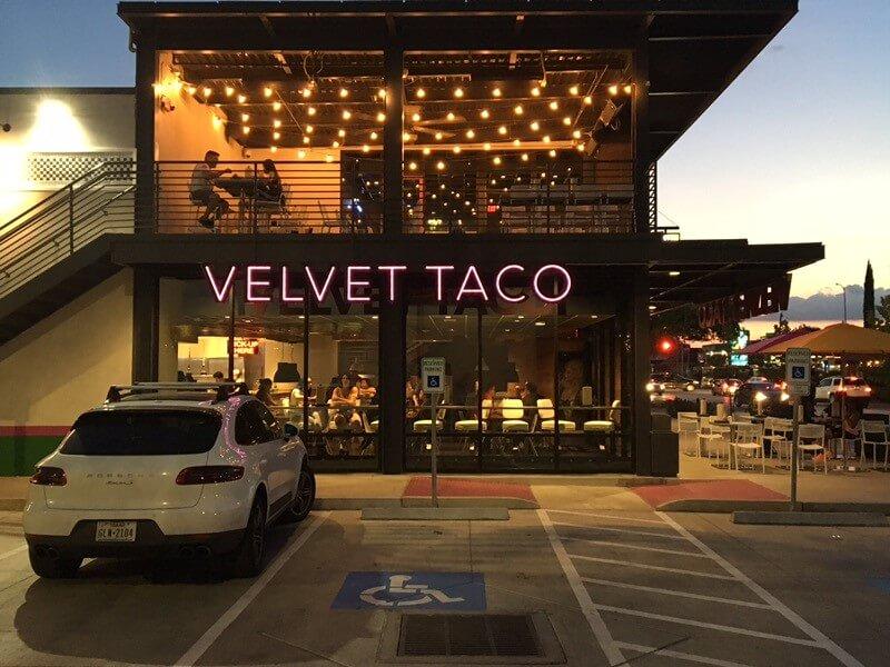 Velvet Taco Sign 4 - Houston