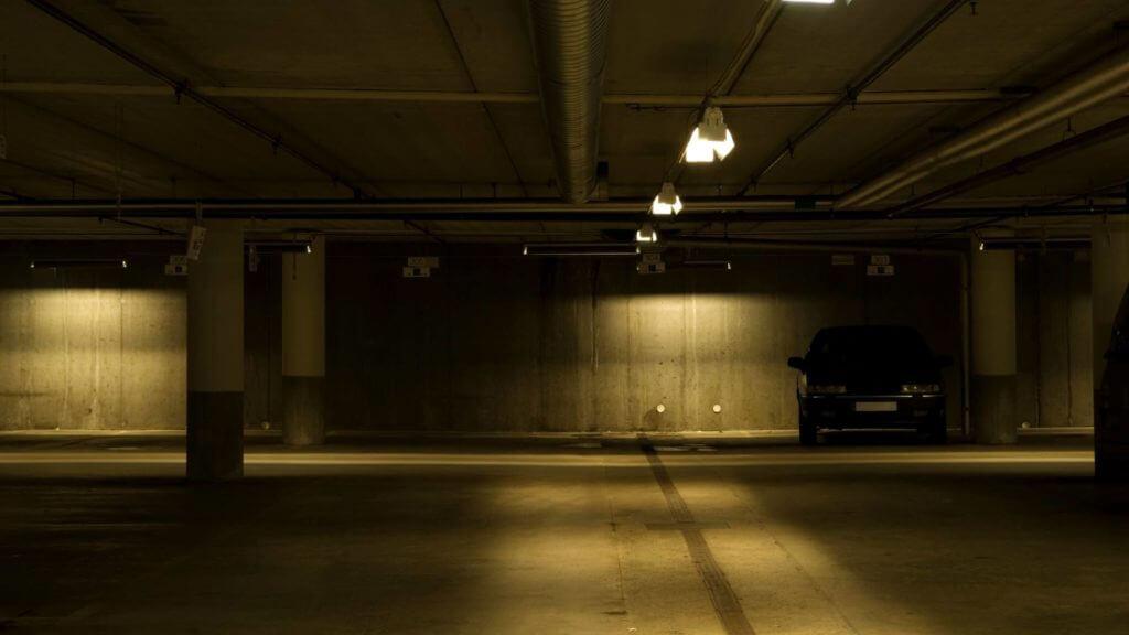 Dark Parking Garage