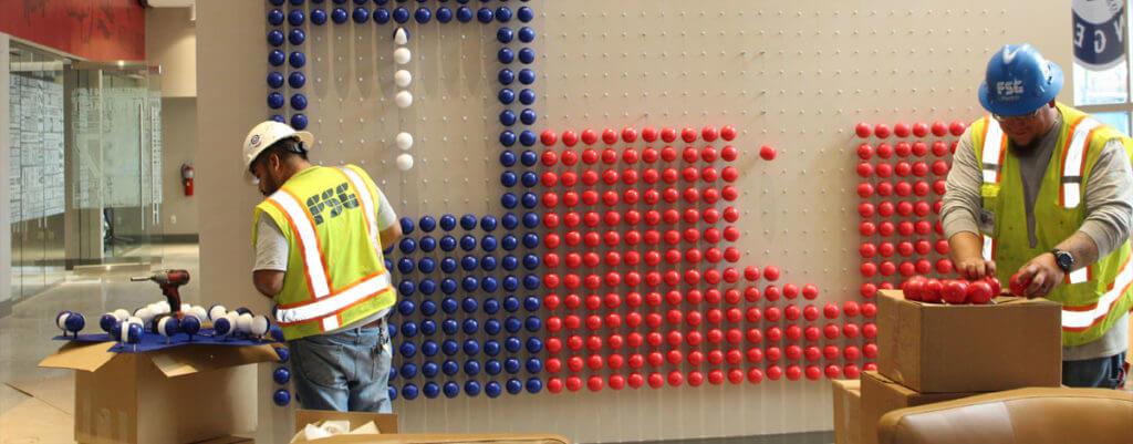 Texas Flag Balls Image
