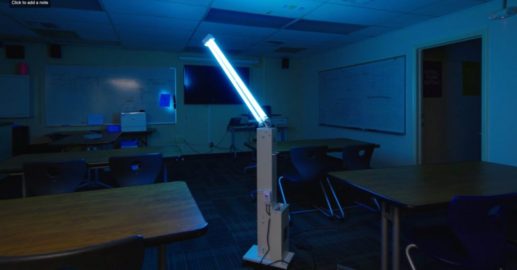 UV Disinfectant lighting schools